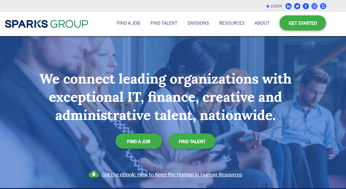 Sparks Group Announces New Website
