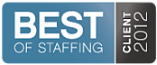 2012 Best of Staffing Client Award