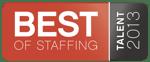 2013 Best of Staffing - Talent Award