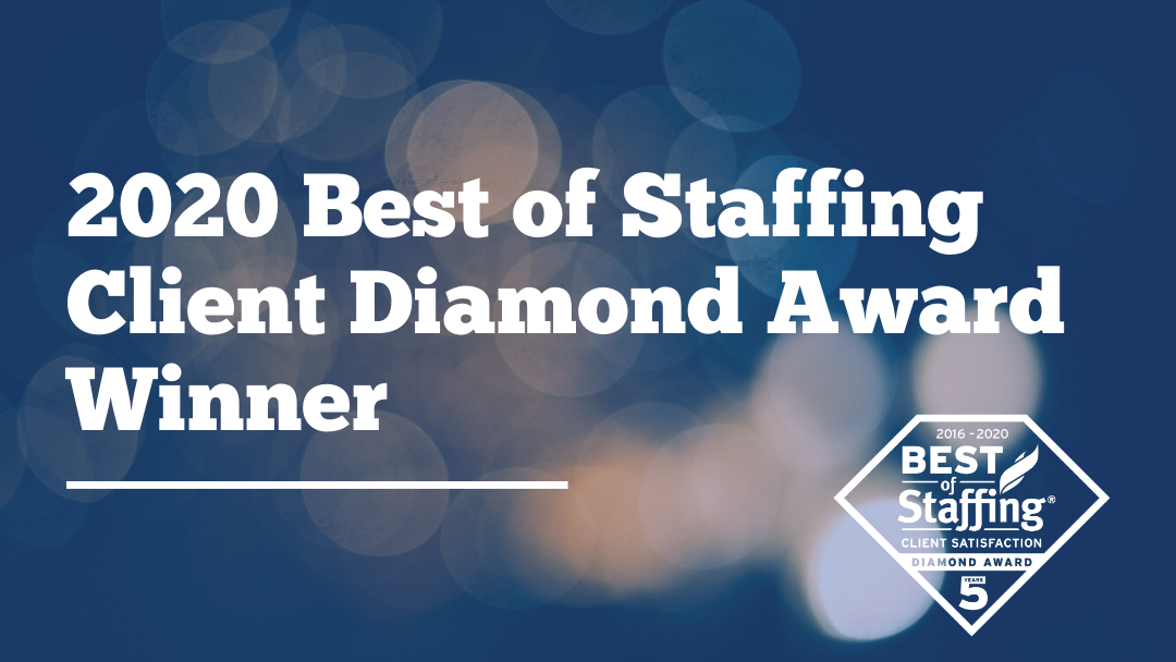 2020 Best of Staffing Client Diamond Award Winner