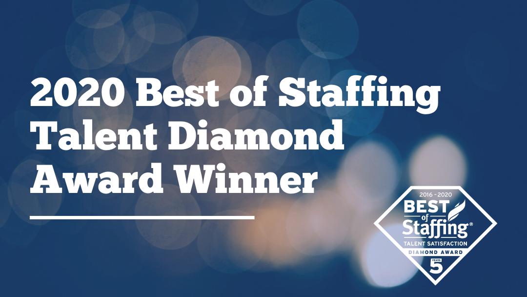 2020 Best of Staffing Talent Diamond Award Winner