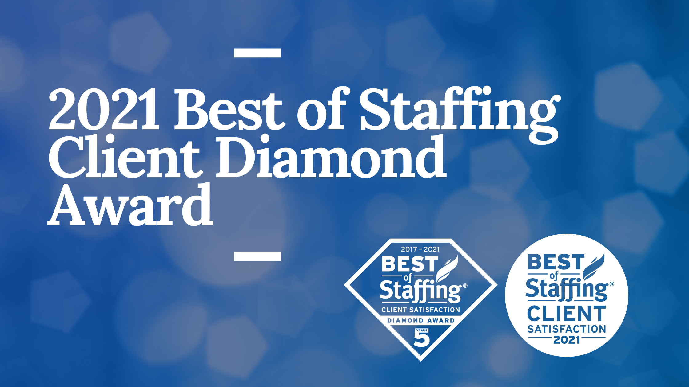 2021 Best of Staffing Client Diamond Award