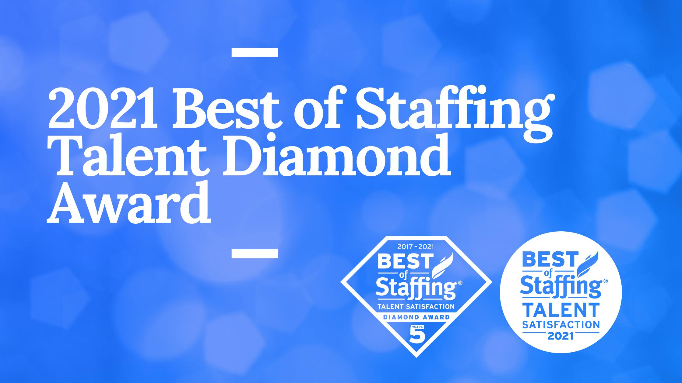 2021 Best of Staffing Talent Diamond Award