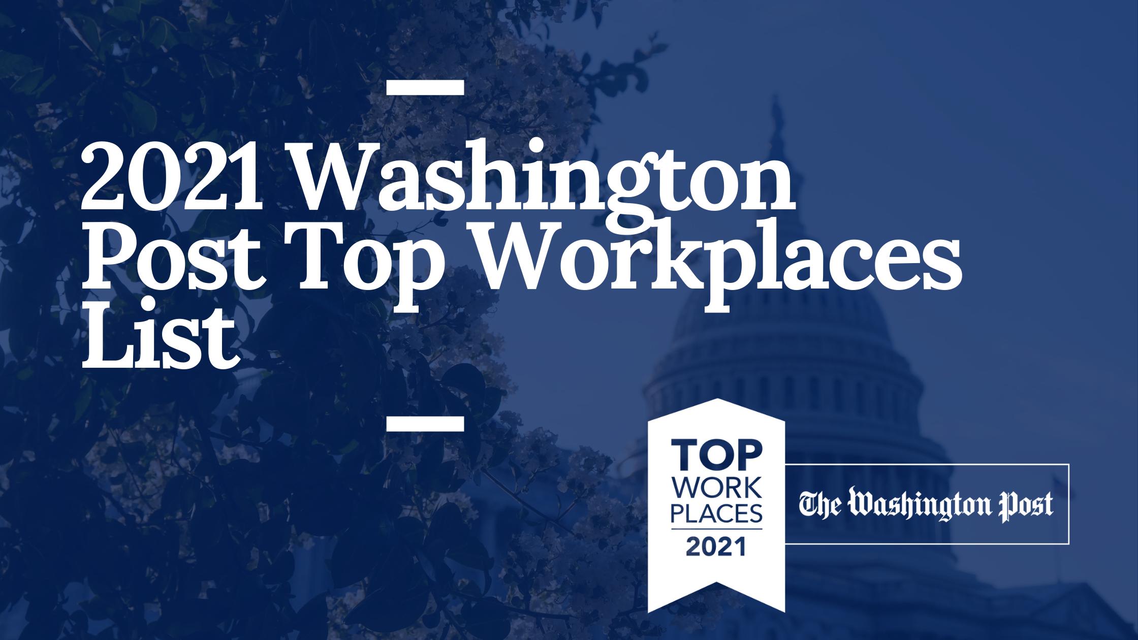 2021 Washington Post Top Workplaces List (1)