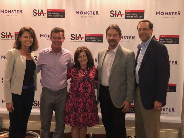 Staffing Industry Analysts 2018 Best Staffing Firms to Work For - SIA Executive Forum Reception