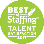 2017 Best of Staffing Talent Satisfaction