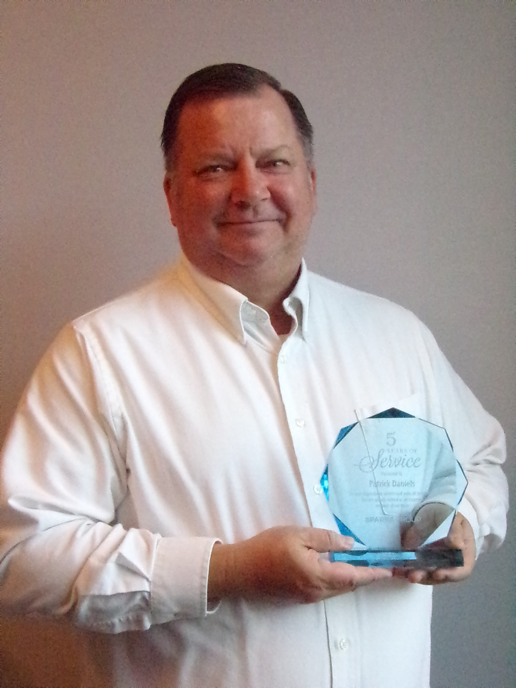 Patrick Daniels, Controller - 5 Year Employee Anniversary