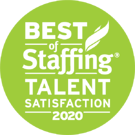 2020 Best of Staffing Award - Talent Satisfaction | Best Staffing Agencies in MD, DC, VA, NC, and beyond