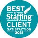 2021 Best of Staffing Award | Client Satisfaction | Sparks Group