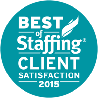 2015 Best of Staffing Client Award