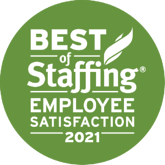2021 Best of Staffing Award | Employee Satisfaction | Sparks Group